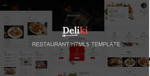 大气餐饮HTML5模板Bootstrap设计