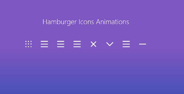 css3汉堡小图标动画特效