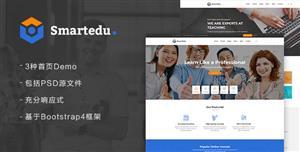 在线教育&课程学习网站HTML模板