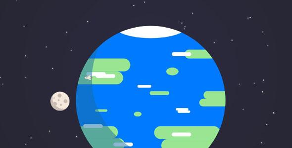 svg环绕地球动画特效