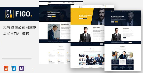 大气咨询金融公司网站响应式HTML模板