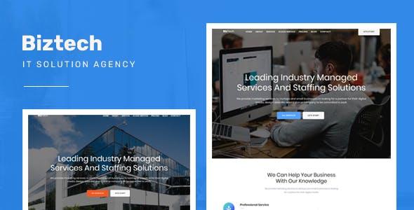 IT公司网站Bootstrap响应式模板