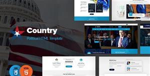 蓝色大气政府官网响应式Bootstrap模板