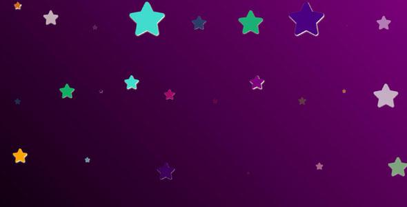 js+css3彩色五角星背景特效