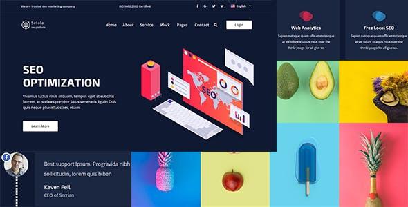 响应式企业网站HTML模板时尚的模板
