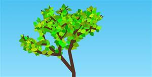 HTML5树动画树叶递归生长