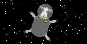 jQuery+SVG一只牛在外太空特效