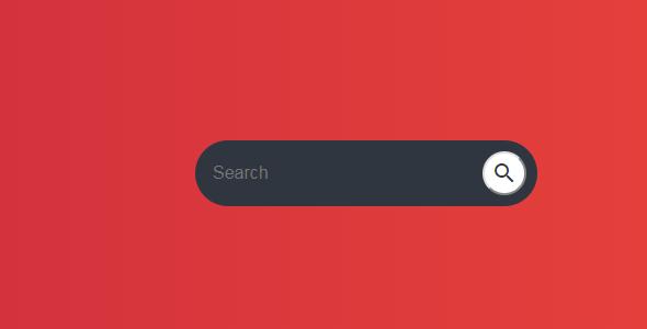 纯css3搜索按钮悬停展开输入