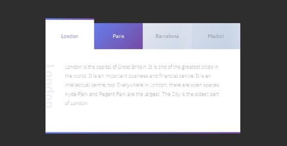 CSS+JS漂亮的tab选项卡
