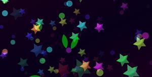 彩色五角星SVG动态网页背景特效