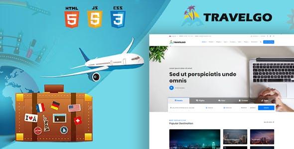响应式旅游网站在线预订HTML5模板