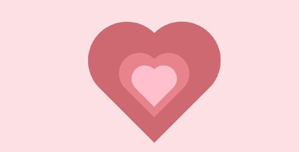 CSS3爱心爱情表白动画特效