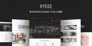 响应式单页和多页Bootstrap企业网站模板