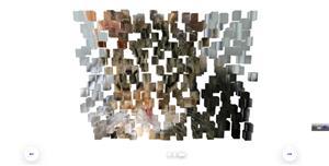 js 3D爆炸碎片图片切换特效