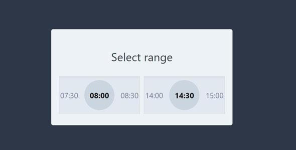 vuejs时间段范围选择插件
