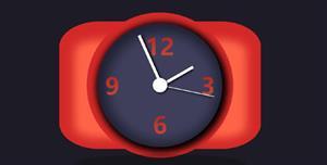 JS+CSS3动态时钟样式特效