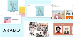 HTML5极简风格作品集网站前端模板