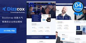 深蓝色的HTML5通用企业网站UI模板