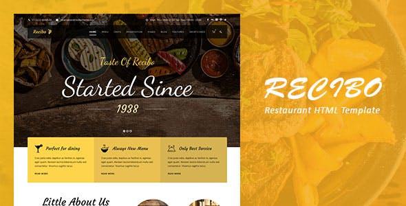 响应式餐饮美食类网站HTML5模板