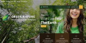 绿色响应式环境保护类网站HTML5模板
