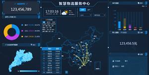 智慧物流大数据HTML源码动态地图