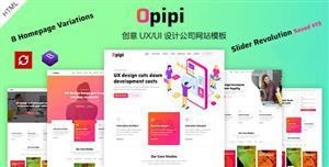 HTML5創意UX/UI設計公司網站Bootstrap模板