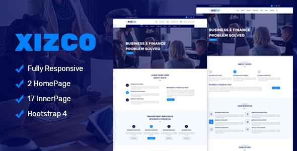 HTML5多功能商业和金融企业网站模板