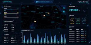 领图物流云数据平台看板HTML模板