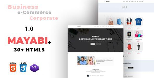 大气Bootstrap4多功能HTML5商业网站模板