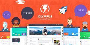 响应式HTML5社交网络社区网站前端模板
