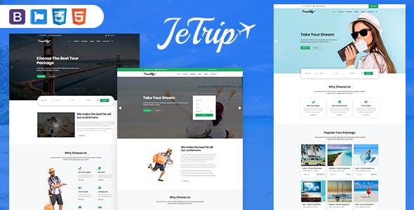 Bootstrap响应式旅行社酒店航班HTML模板
