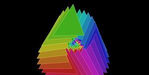 canvas无数个三角形动画特效