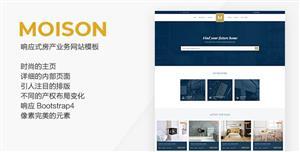 蓝色响应式房地产业务HTML5模板
