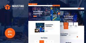 大气响应式工厂业务HTML5模板高端UI设计