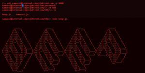 js控制台命令打字特效代码