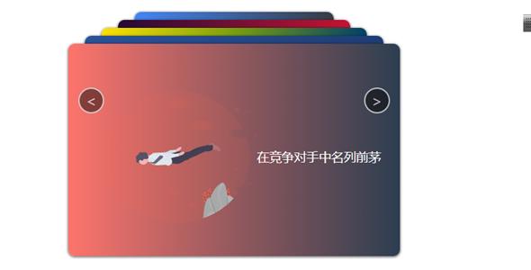 jQuery css3圆角卡片样式层叠切换特效