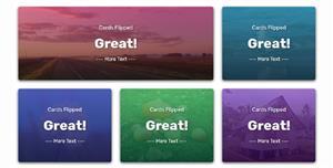 JS+CSS3卡片样式自动翻转特效