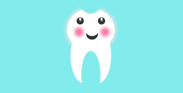 纯css3可爱牙齿跳动特效