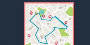 offset-path汽车在地图上行驶动画特效
