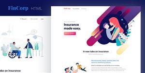 创意金融保险和市场营销着陆页模板