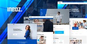 HTML5蓝色大气商业咨询公司网站web模板响应式