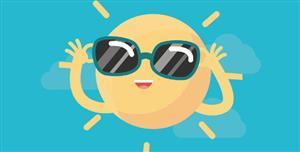 戴墨镜的卡通太阳SVG动画特效