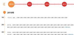 jquery公司发展大事记时间轴代码