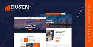 精美HTML5工厂企业网站模板