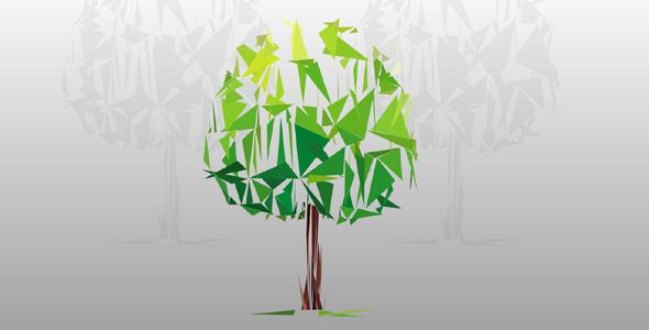svg折纸样式树特效