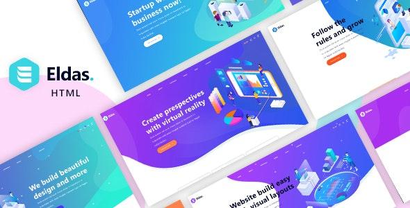 创意等距风格企业网站HTML5模板