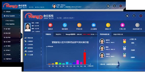 企业内部OA办公系统HTML模板