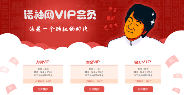 vip会员开通续费html页面
