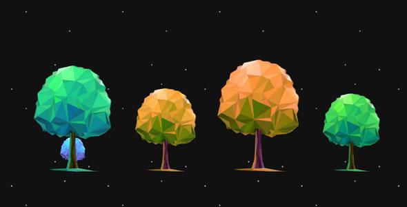 SVG树木变大变小特效