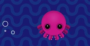 js+css3章鱼在水中游动特效